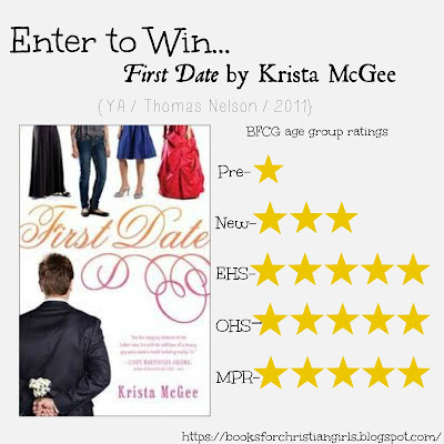 http://booksforchristiangirls.blogspot.com/2013/07/first-date-by-krista-mcgee.html