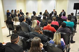 Estagiários de Direito do UNIFESO Teresópolis são recebidos com palestra no fórum