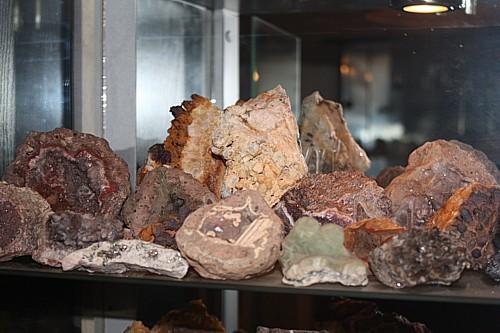 Minerale/Mineralien in meinen Vitrinen-Minerale Thüringen