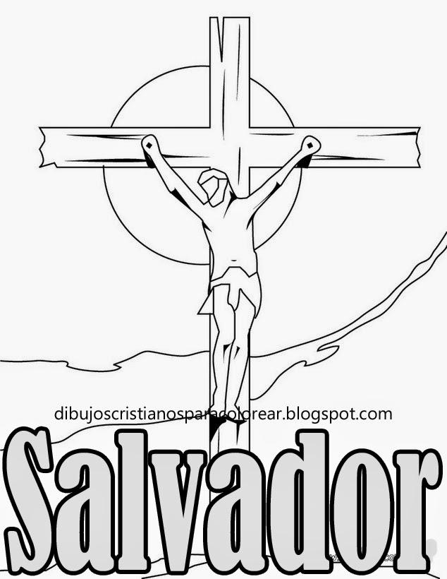 Dibujos Cristianos Para Colorear Jesus Mi Salvador Para Colorear