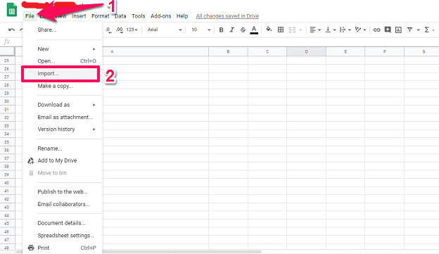 Steps To Import CSV To Google Sheets