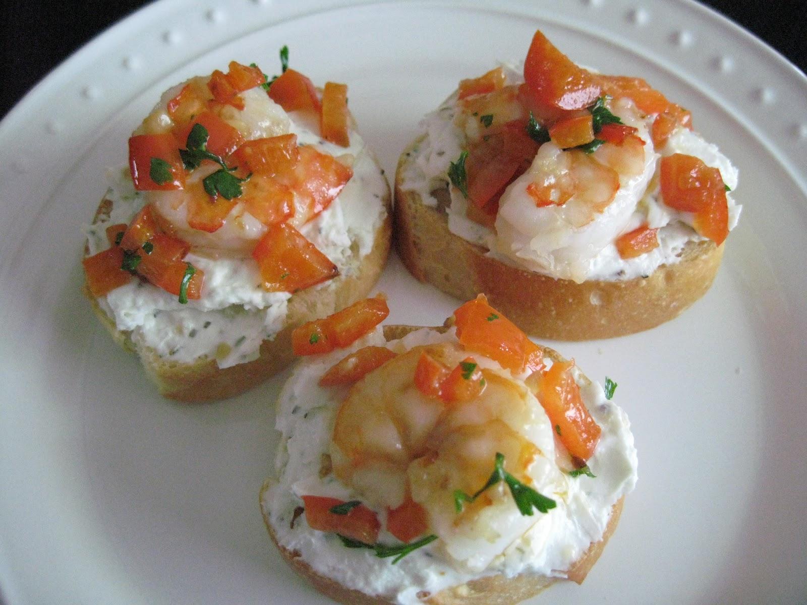 Tara S Kitchen Adventures Garlic Shrimp Crostini