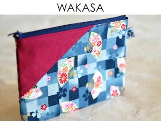 Etui Wakasa für Reisepass aus japanischen Stoffen von Noriko handmade, handgemacht, Einzelstück, Unikat, Design, Reisepassetui, Reisepasshülle