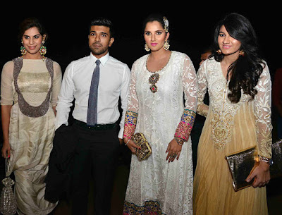 Ram Charan Teja Sania Mirza in Arpita Khan wedding