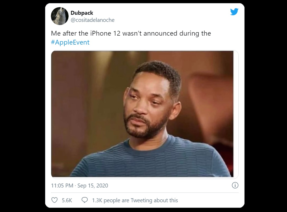 Apple Event 2020 Unveiled Interesting Products But Turned Into A Meme On Social Media Because Of Iphone 12 S Absence Digital Information World