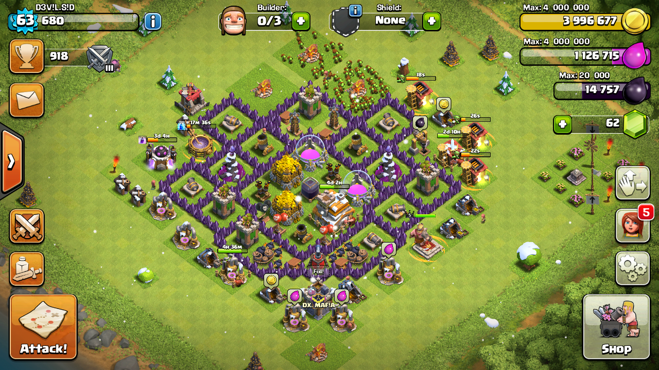 Best Th7 Farming Base Coc Th7 Farming And Trophy Base By Devil Sid