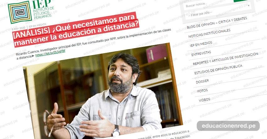 ANÁLISIS: ¿Qué necesitamos para mantener la educación a distancia? (Ricardo Cuenca)