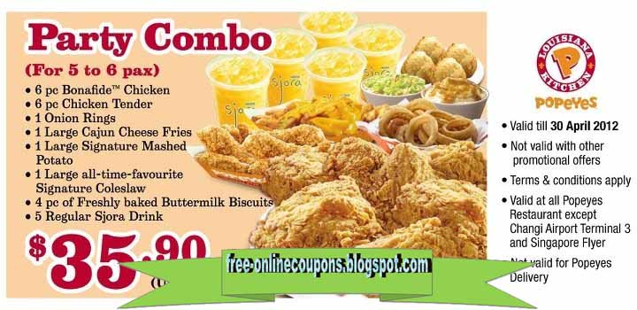 graphic relating to Popeyes Coupon Printable called Popeyes discount codes 2019 on line