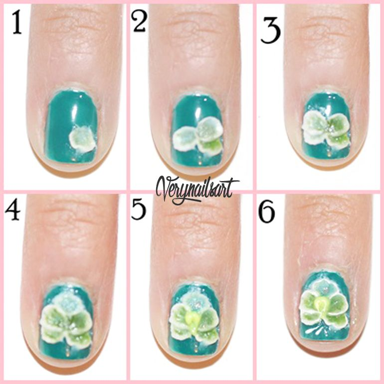 Dise o de u as decoradas con flores en 3d verynailsart - Pintar con acrilicos paso a paso ...