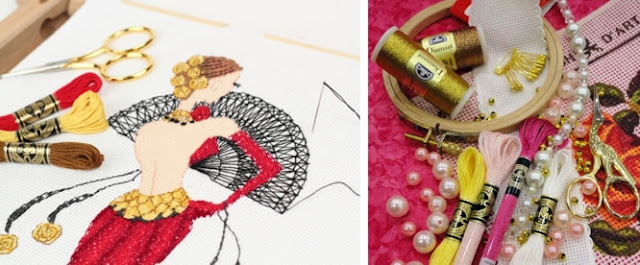hilos, hilados, clases, coser, bordar, textura hilos