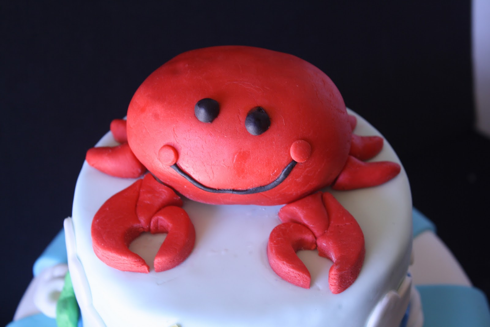 Astonishing Anchors Aweigh Nautical Theme Cake With A Crab On Top Funny Birthday Cards Online Necthendildamsfinfo