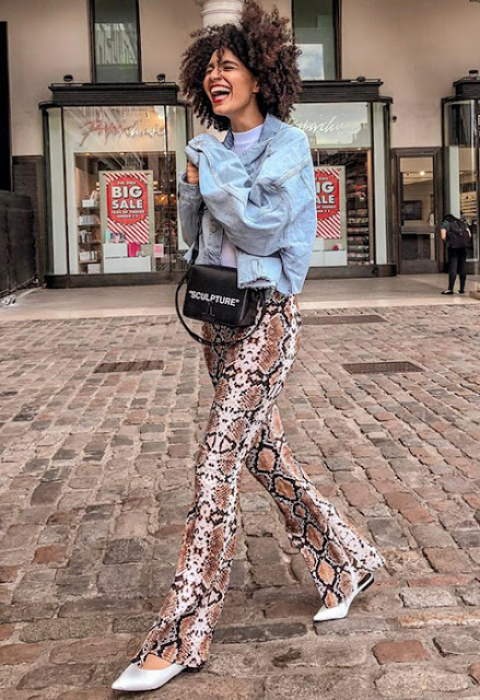 tendenza stampa pitone tendenze primavera 2019 come abbinare la stampa pitone idee outfit stampa pitone snake pattern snake outfit how to wear python print mariafelicia magno fashion blogger colorblock by felym fashion blogger italiane