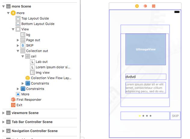 I2swift coding : How to add PageControl inside