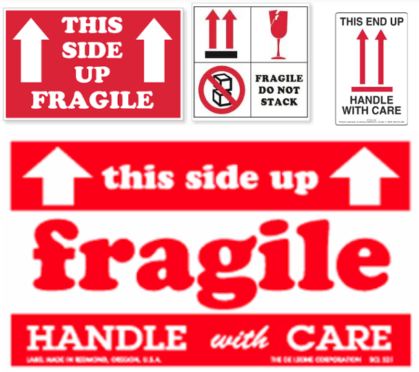 Arrow Fragile Labels