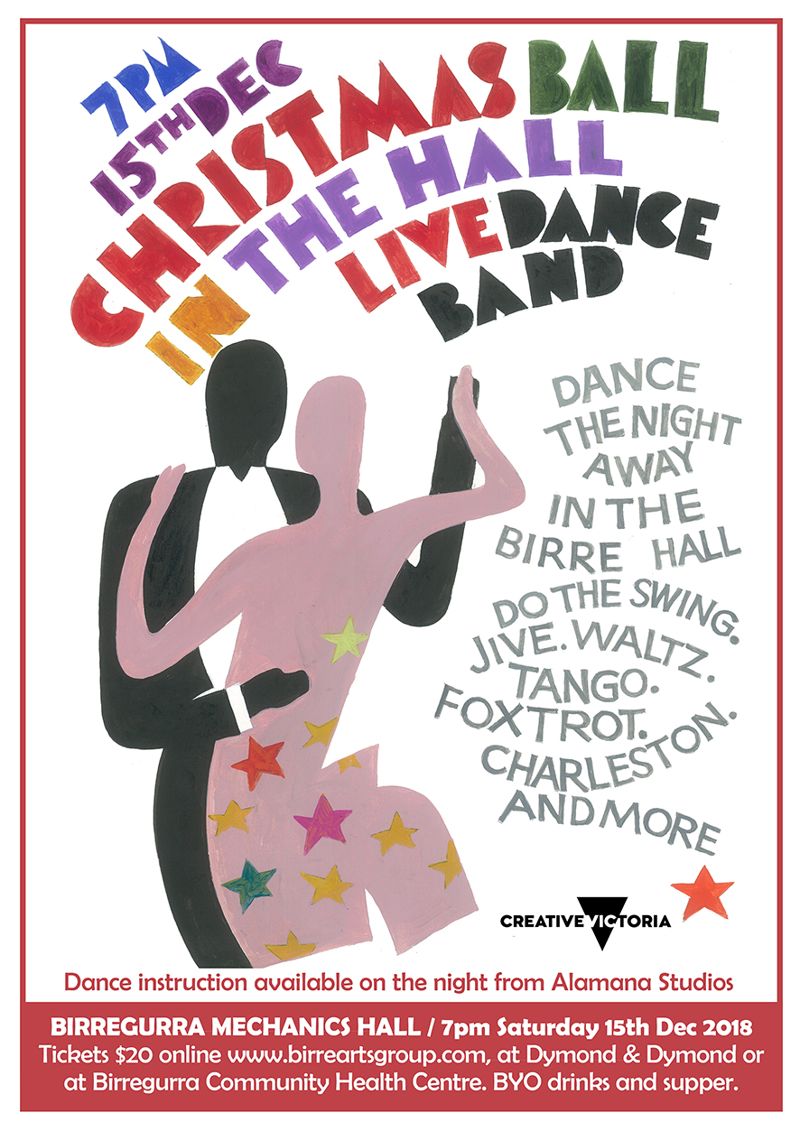 Come dancing with us at Birregurra Christmas Ball in the