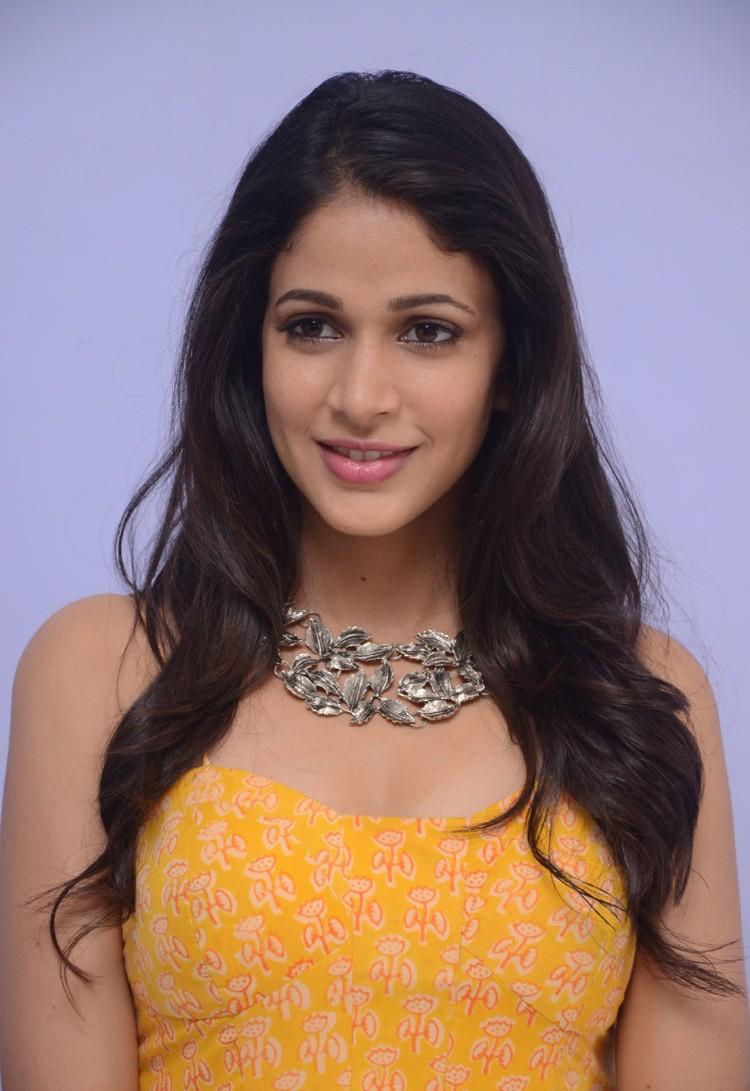 Lavanya Tripathi Photos At Movie Launch In Yellow Dress