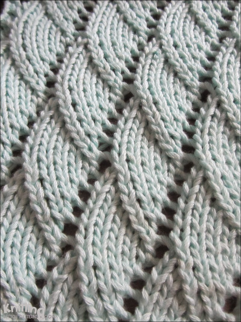 Overlapping Waves knitting pattern   |  knittingstitchpatterns.com