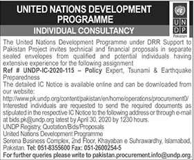 UNDP Jobs 2020 - United Nations Development Programme