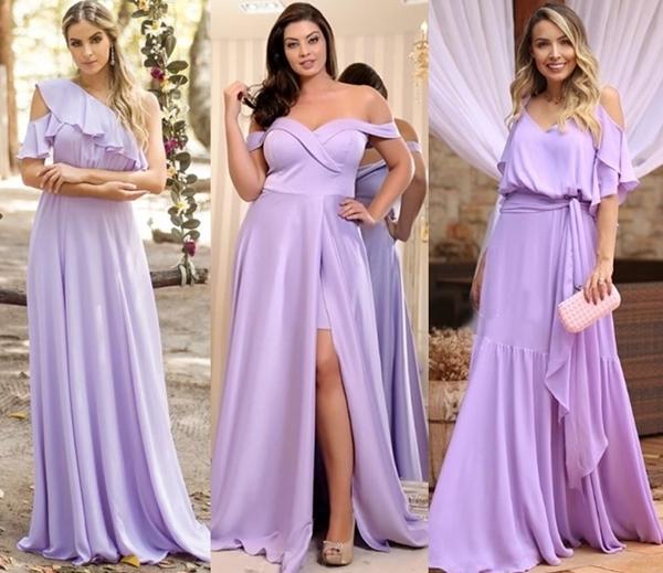 vestido longo lavanda