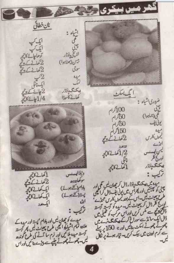 Baking Recipes in Urdu