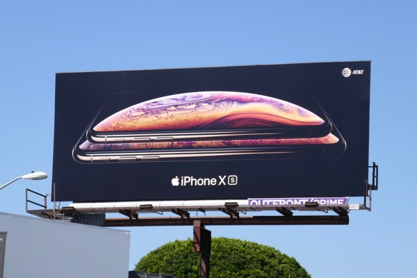 Apple iPhone XS billboard