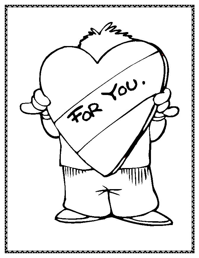valentine coloring pages online - photo #15