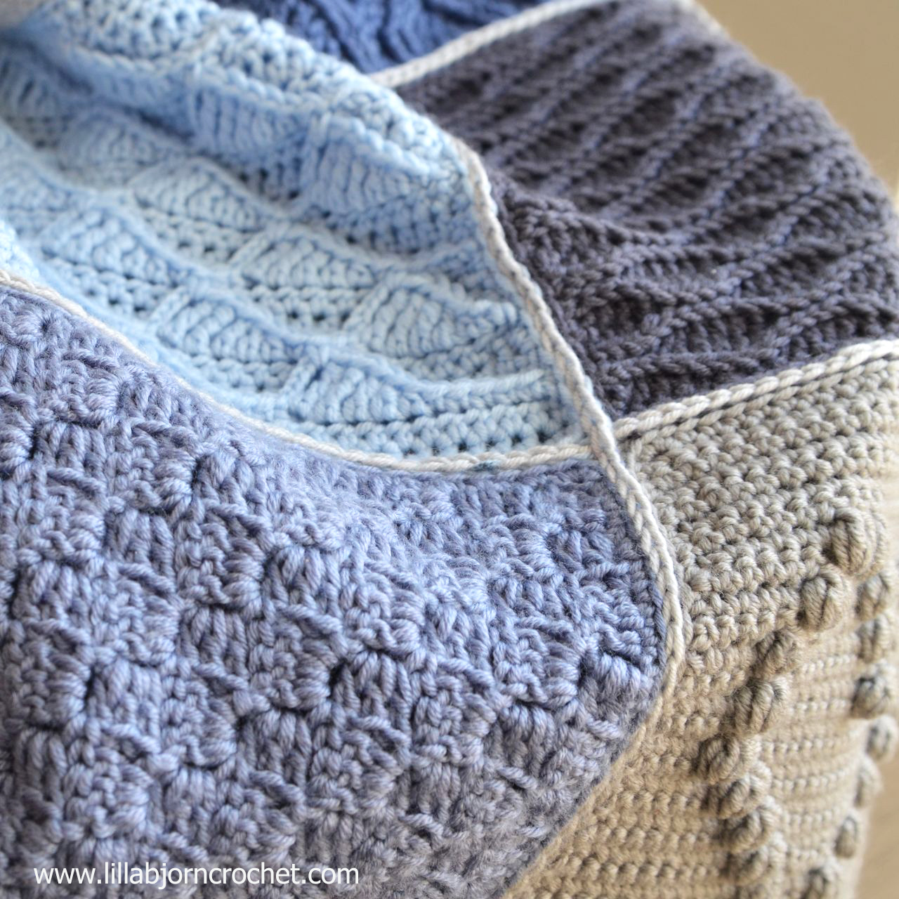 Last Dance on the Beach - Scheepjes CAL 2016 - free crochet blanket pattern
