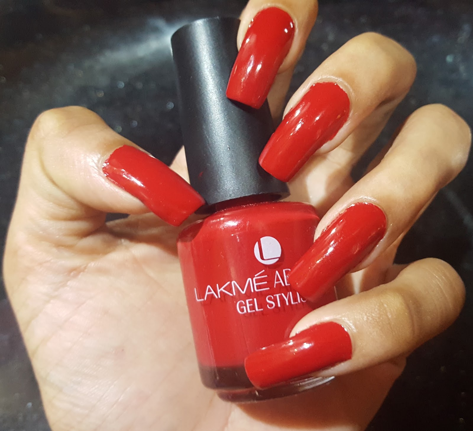 Ahoy! Nails!!: Lakme Absolute Gel Stylist Nail Polish - Scarlet Red ...