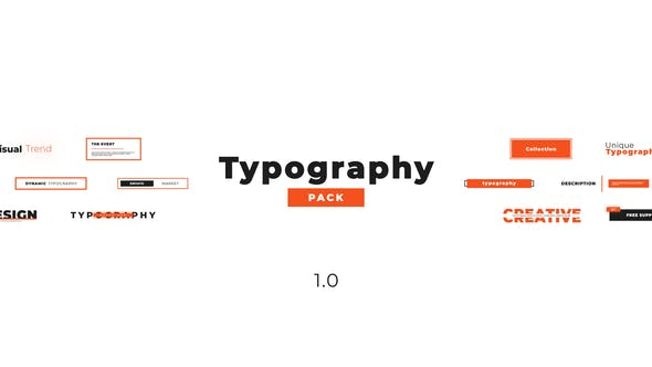 Creative Typography Pack | After Effects Project Files