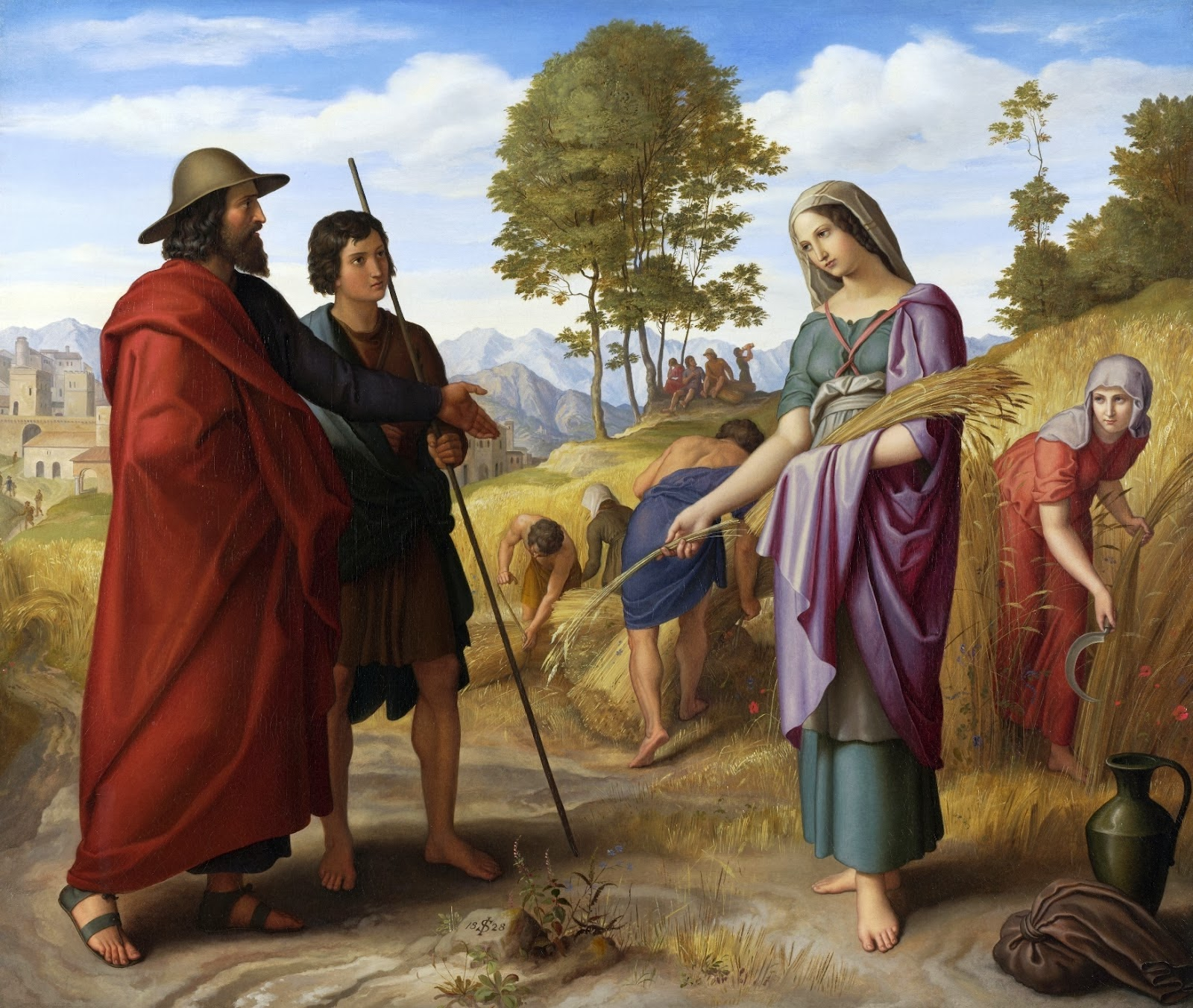 Peinture Française du 19ème Siècle: Ruth and Boaz (1822)
