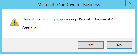 sharepoint 2013 sync stop syncing a folder