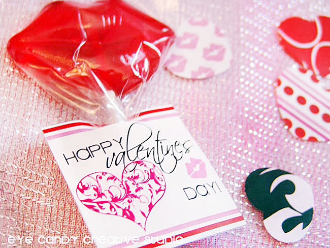 valentines day lollipop, ideas using valentines toppers, damask heart