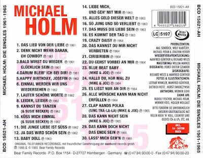 Michael Holm - Die Singles (1961 - 1965)