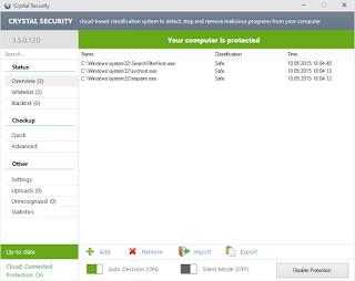 حماية من الفيروسات برنامج Crystal Security