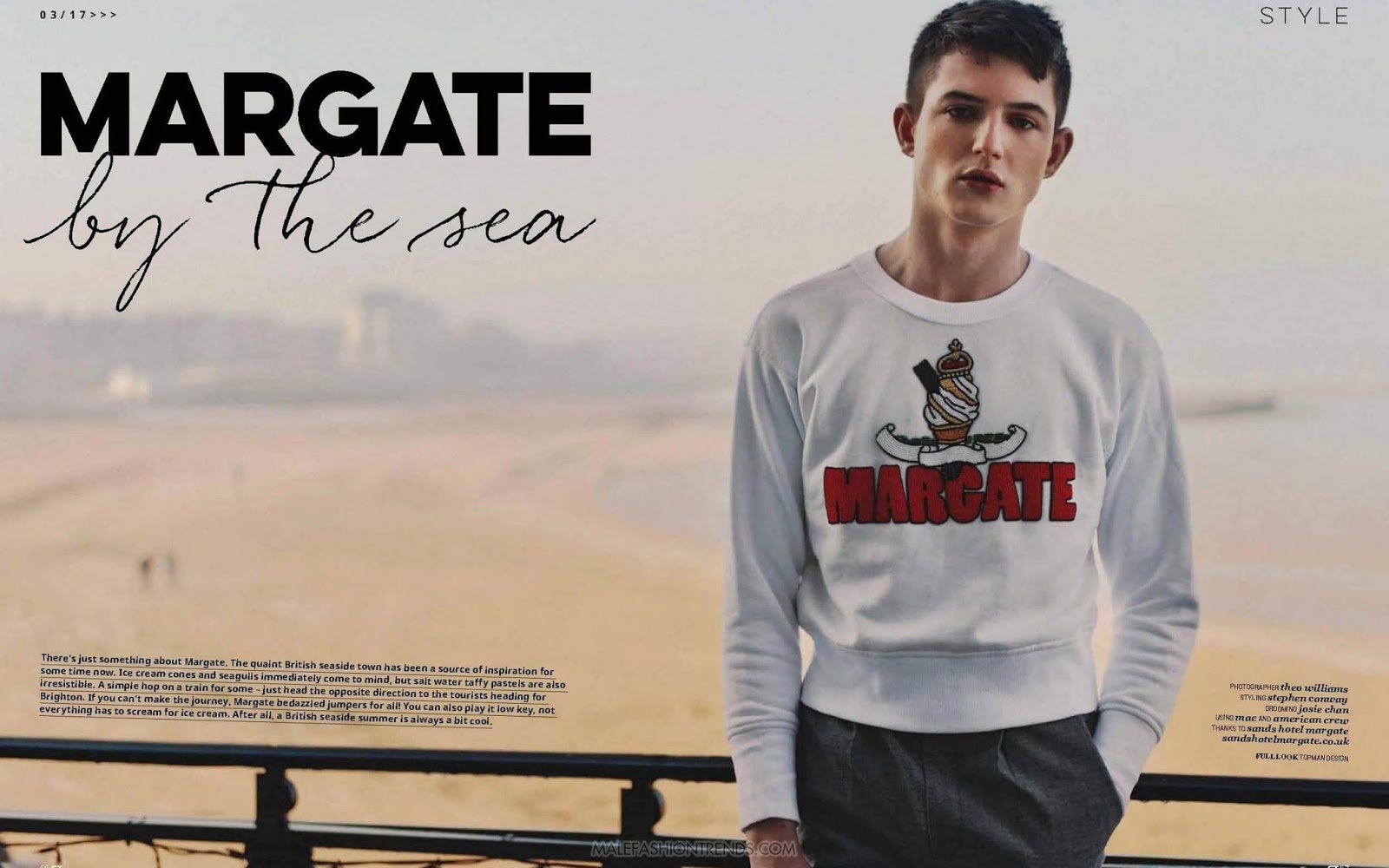 'Margate by the sea': Editorial por Theo Williams para Gay Times Magazine