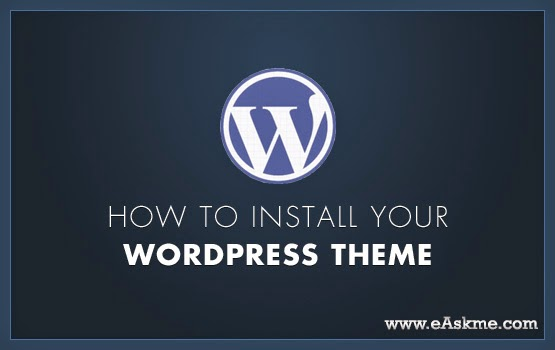 Install WordPress Theme : eAskme