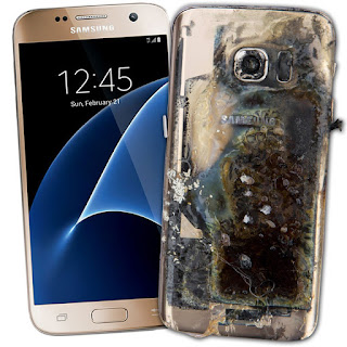 Galaxy S7 explode