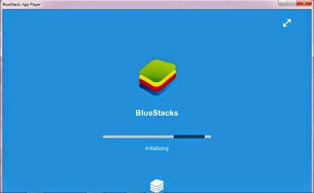 Start awal bluestack emulator pada laptop dan PC
