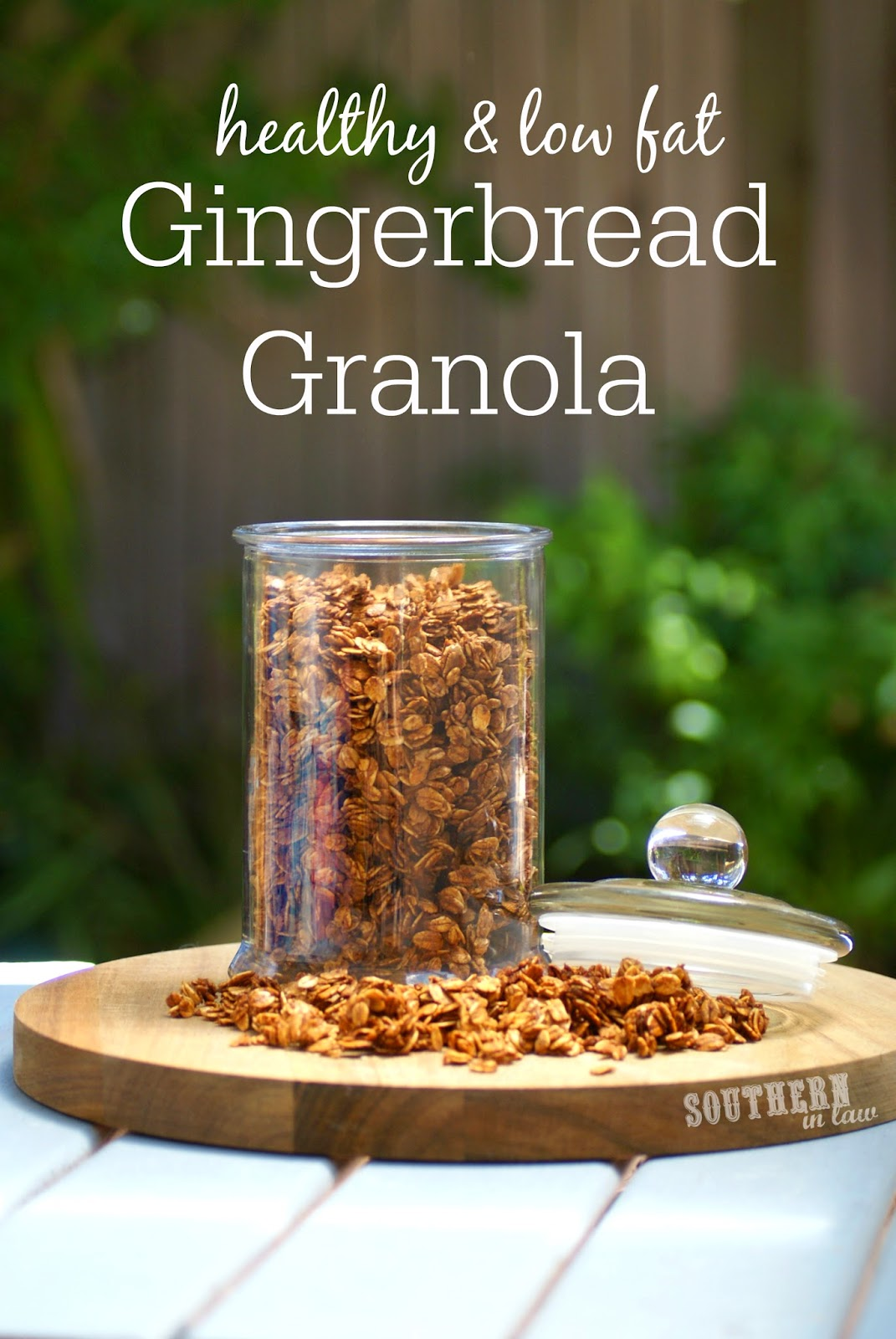 Gluten Free Gingerbread Granola Recipe - low fat, gluten free, healthy, clean eating friendly, christmas gift ideas