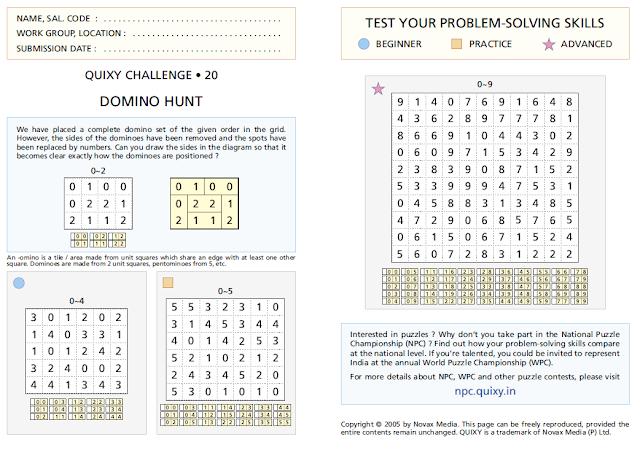 """Domino Hunt"" Puzzles"