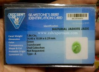 Batu Permata Giok Type A + Memo - ZP 602