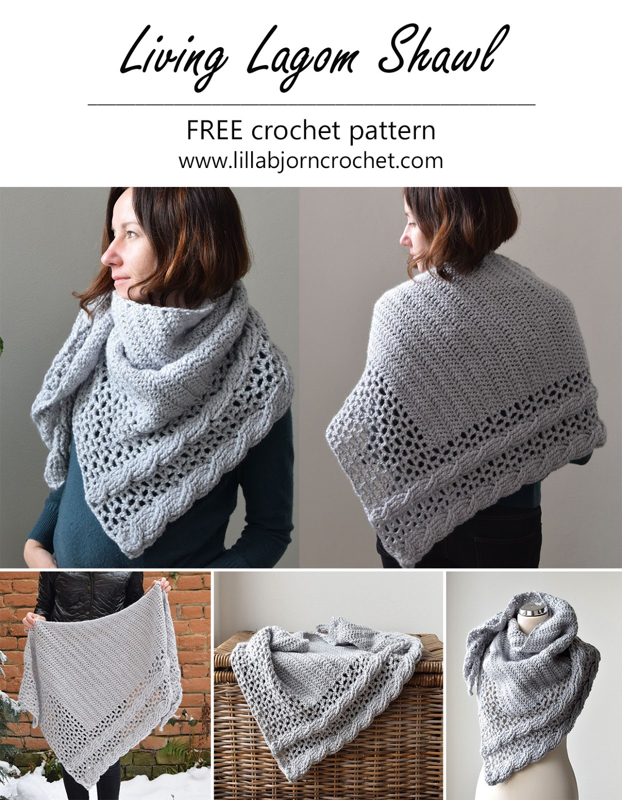 Living Lagom Shawl Free Crochet Pattern Us Terms Lillabjorn S