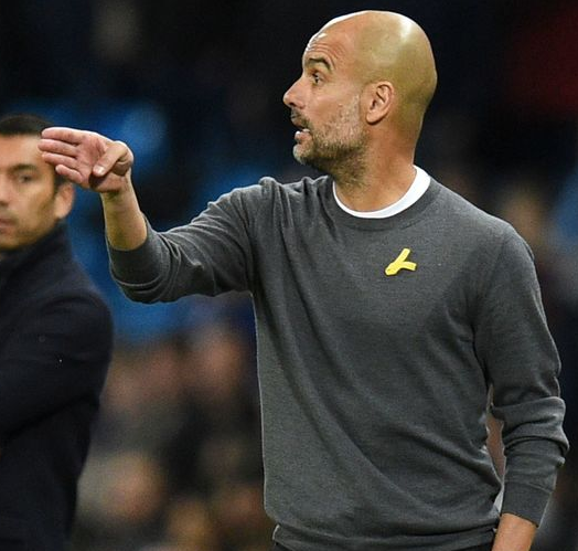 Manchester City coach, Pep Guardiola charged by FA for 'wearing a political message' from Catalona