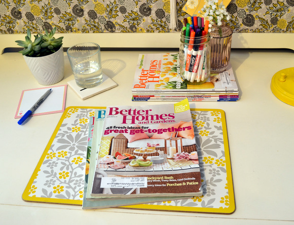 Desk with Magazines Better Homes and Gardens