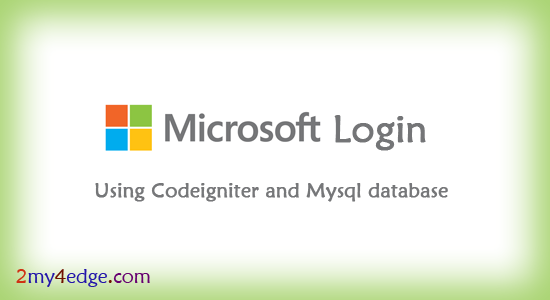 Microsoft oauth login in php framework codeigniter
