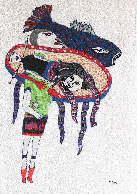 art textile contemporain, art africain, légendes Afique