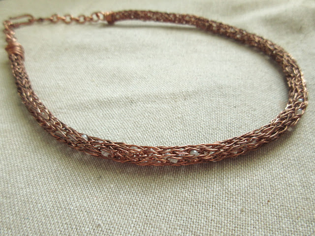 Double Helix Viking Knit Necklace
