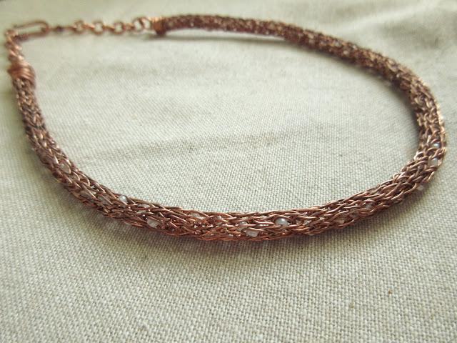 Double Helix Viking Knit Necklace