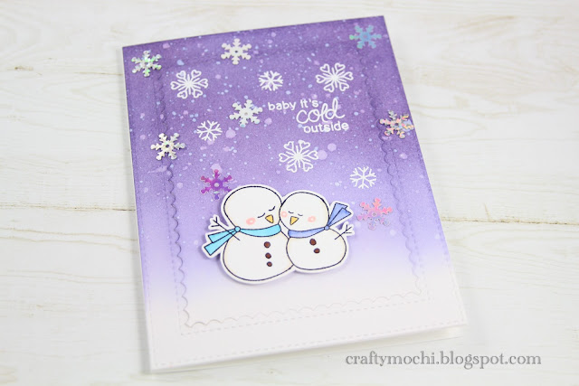 Baby, It's Cold Outside Card by November Guest Designer Gladys Marcelino | Frozen Friends Stamp Set by Newton's Nook Designs #newtonsnook