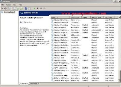 menonaktifkan services Windows yang tidak terpakai
